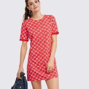 Draper James Sailor Knit Dress Red Sz Xs NWT